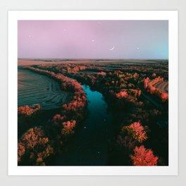 north dakota fall Art Print