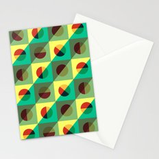 Mint circles & squares Stationery Cards