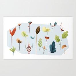 Leaves Art Print