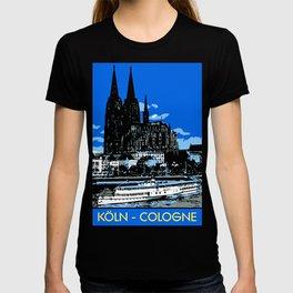 Koeln Cologne retro vintage style travel advertising T-shirt