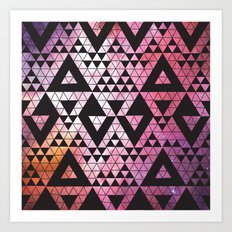 Space Triangles No. 2 Art Print