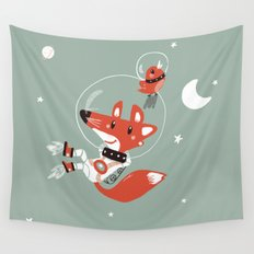 Space Fox Wall Tapestry