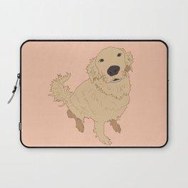 Golden Retriever Love Dog Illustrated Print Laptop Sleeve