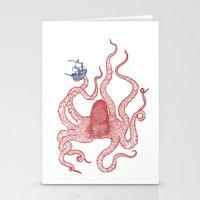 kraken Stationery Cards featuring Kraken by Andrew Henry