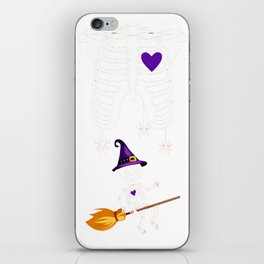Witch Broom Halloween_ Funny Halloween Gifts For Kids iPhone Skin