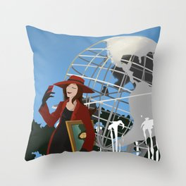 Where in the World... Throw Pillow