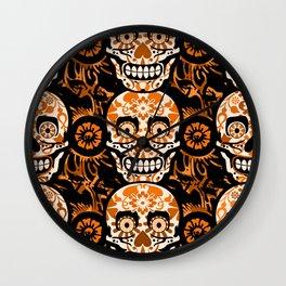 Halloween Calaveras Wall Clock