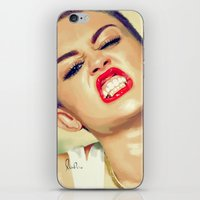 miley cyrus iPhone & iPod Skins featuring Miley Cyrus by Nicolaine