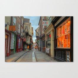 York Shambles HDR  Canvas Print