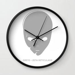 Universal species-Grays Wall Clock