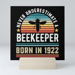Beekeeper born 1922 100th Birthday Gift Beekeeping Mini Art Print