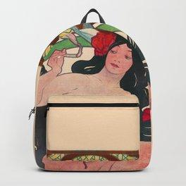 Art Nouveau Alphonse Mucha Job Detail Backpack