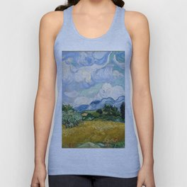Wheat Field with Cypresses Unisex Tank Top