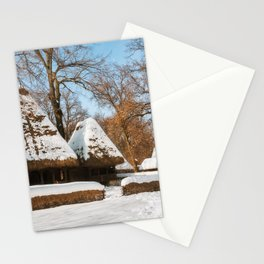 Season Greetings from a picturesque Romanian Village Stationery Cards