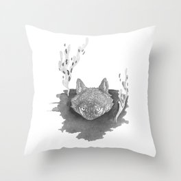 Wolf Baptism Throw Pillow