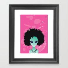 alien poster Framed Art Print