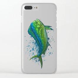 """El Dorado"" by Amber Marine ~ Mahi Mahi / Dolphin Fish Art, (Copyright 2015) Clear iPhone Case"