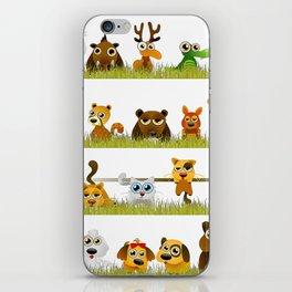 Adorable Zoo animals iPhone Skin