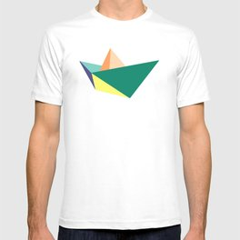 Fune, original colours on white T-shirt