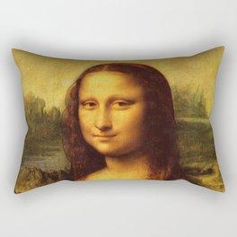 Leonardo Da Vinci Mona Lisa Painting Rectangular Pillow