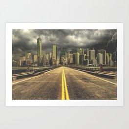 Broken City Art Print