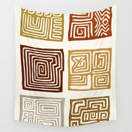 African Ceremonial Pattern Wall Tapestry