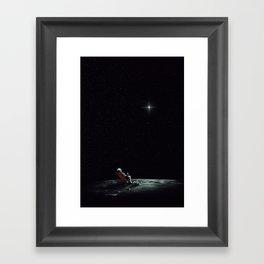 Space Chill Framed Art Print