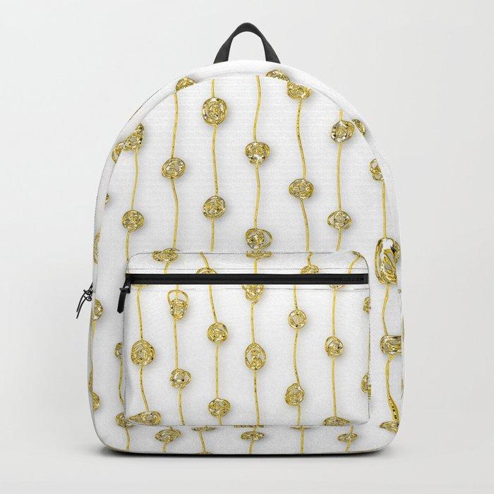 Raining Gold Glitter Confetti - Luxury golden design on #Society6 Backpack
