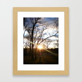 Cold Sunset Framed Art Print
