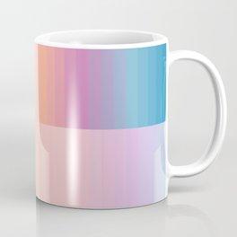 Staggered Rainbow Gradient Coffee Mug