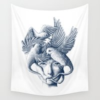 breathe Wall Tapestries featuring Breathe by Norman Duenas