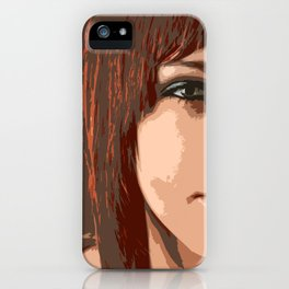 Woman view iPhone Case