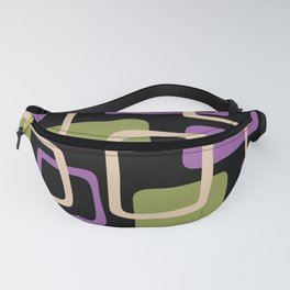 Mid Century Modern Abstract Squares Pattern 432 Fanny Pack