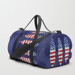 American Flag Stars and Stripes Free Spirit Feather Duffle Bag