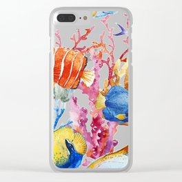 Fish Pattern 08 Clear iPhone Case