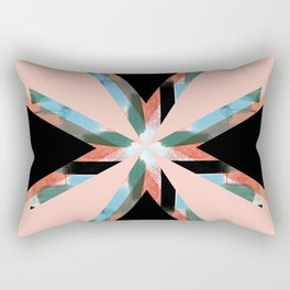 Three Triangles Geometric in Black Rectangular Pillow