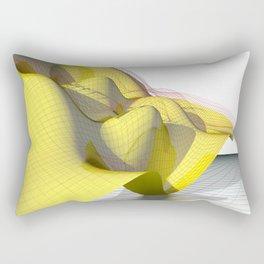 Waved yellow surface Rectangular Pillow