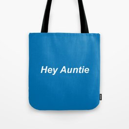 auntie: blue Tote Bag