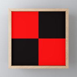 rot schwarz Framed Mini Art Print