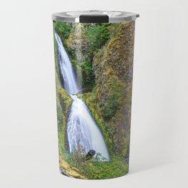 Wahkeena Falls in the Columbia River Gorge Travel Mug