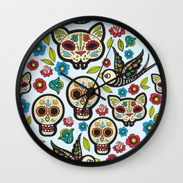 The day of the dead colorful pattern Wall Clock