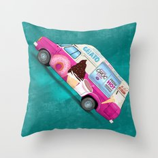 It's Ice Cream Time Throw Pillow