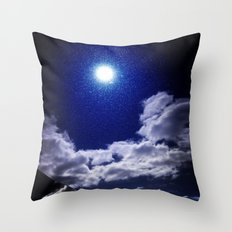 Signs in the Sky Collection I- in its original deep blue Throw Pillow