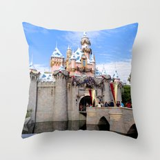 Sleeping Beauty's Holiday Castle Throw Pillow