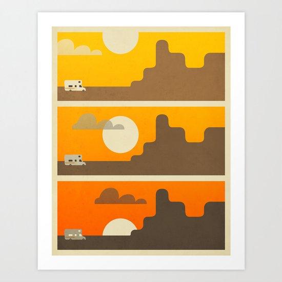 RV SUNSET Art Print