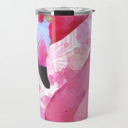 Watercolor Flamingo Travel Mug