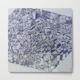 Cubed Butterflies Metal Print