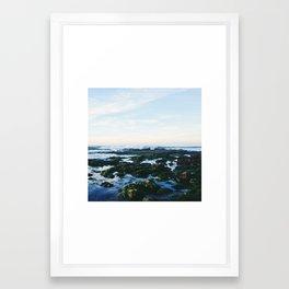 rocks and pools Framed Art Print