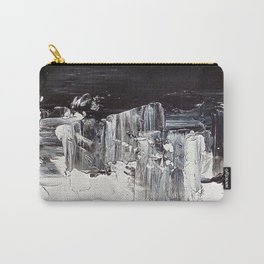 Flatline - black & white abstract painting Carry-All Pouch