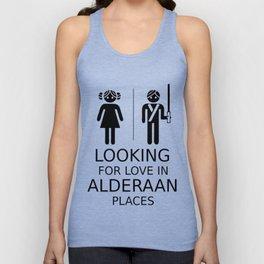 Looking for love in Alderaan places Unisex Tank Top